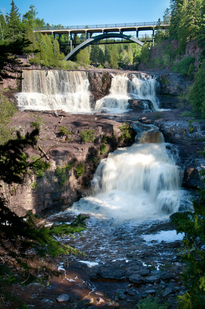 Middle and Lower Gooseberry Falls