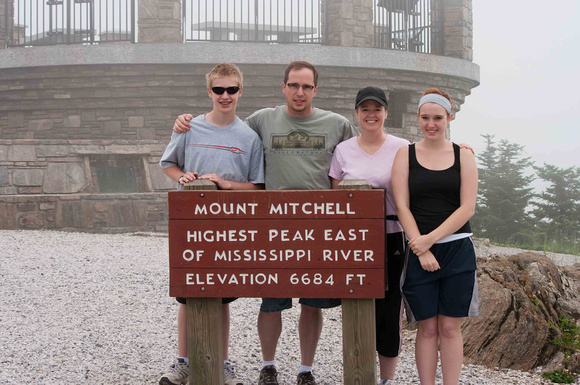 On top of Mount Mitchell